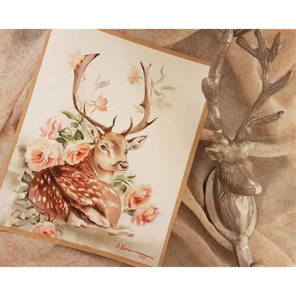 Deers-watercolor-paintings