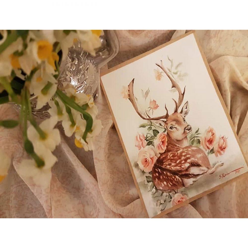 Deers-watercolor-paintings-DM