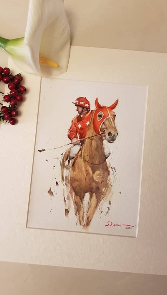 Horse-watercolor-painting