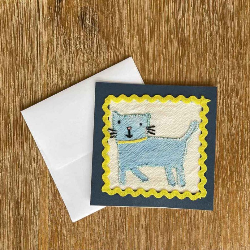 Blue Cat Embroidery