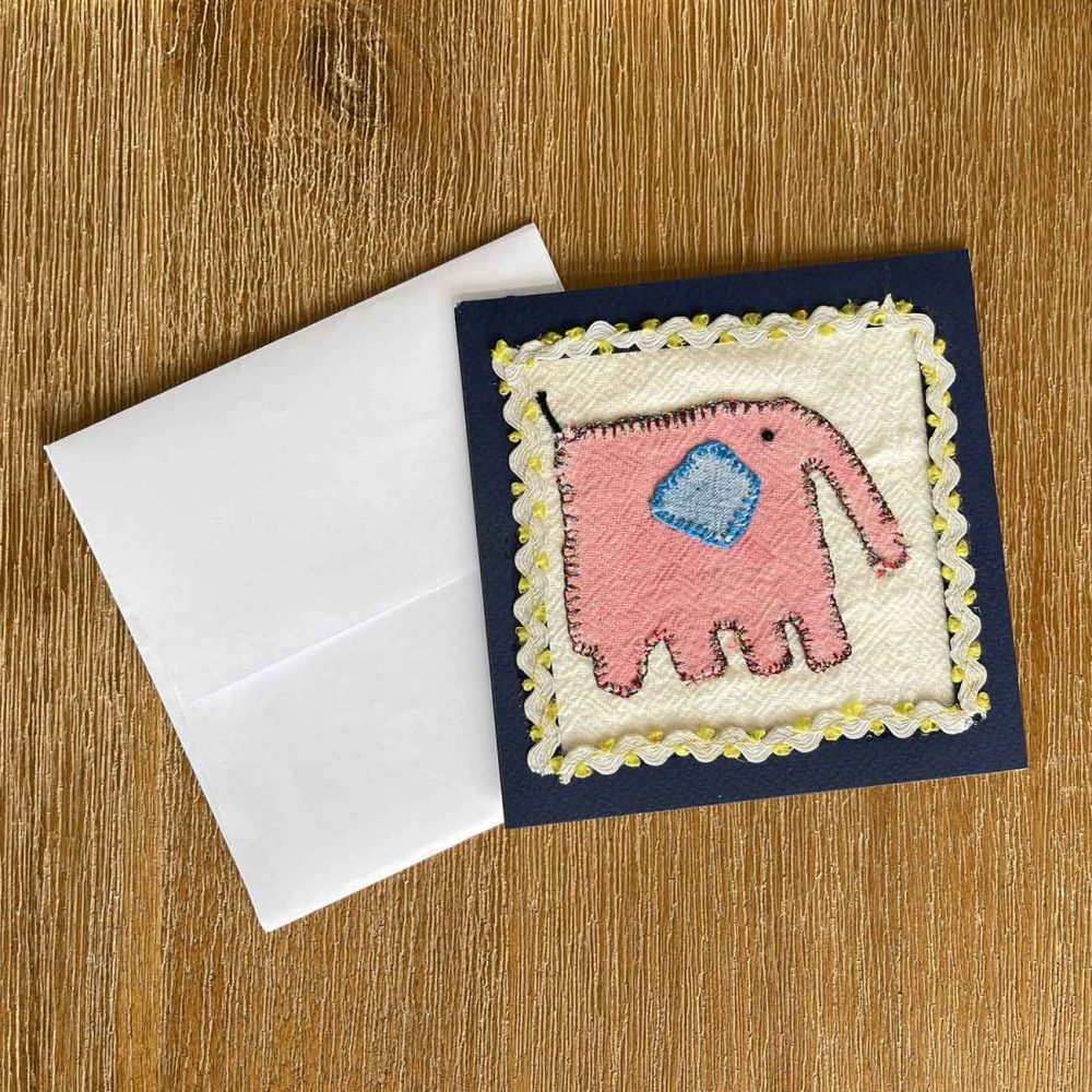 ELLEPHANT Embroidery Greeting Card